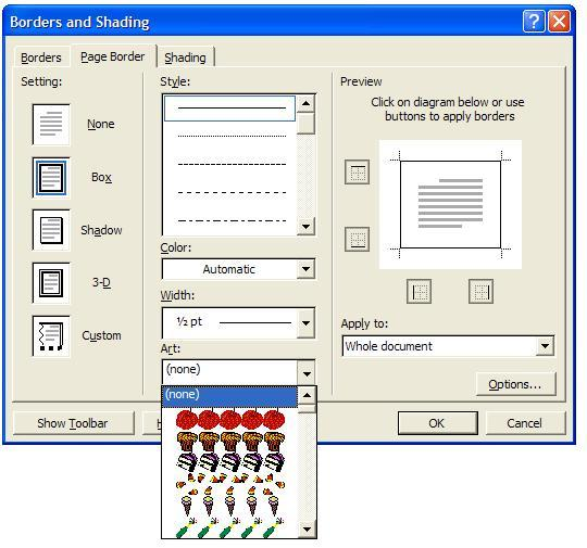 How to Add in Microsoft Word Page Borders